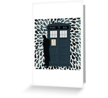 The Doctor and the TARDIS Greeting Card