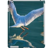 seagull flying on lake iPad Case/Skin