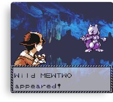 Mewtwo Encounter Canvas Print