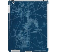 Civil War Maps 1172 Monumental guide to the Gettysburg battlefield A map showing the location of every monument marker and tablet with approaching roads and avenues Inverted iPad Case/Skin