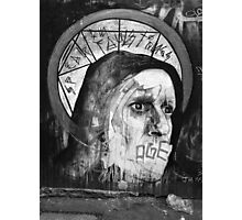 Monochrome Street Art Photographic Print