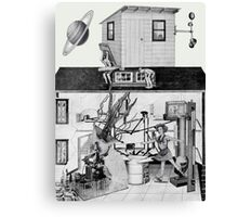 Great Spam Factory for Lovers with a Couple of Kooks Messing Around. Canvas Print