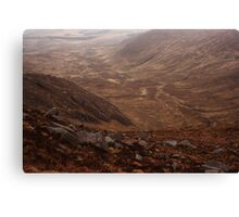Owendoo Valley From Croaghbane Canvas Print
