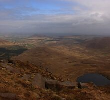 Cronloughan Lough And Owendoo Valley From Glascarns Hill by Adrian McGlynn