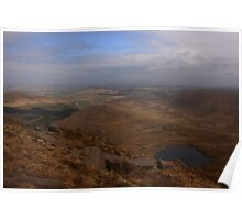 Cronloughan Lough And Owendoo Valley From Glascarns Hill Poster