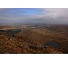 Cronloughan Lough And Owendoo Valley From Glascarns Hill Photographic Print