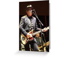 Elvis Costello - Deni Blues & Roots 2014 Greeting Card
