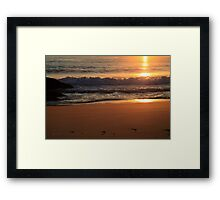 Golden Shoreline Framed Print