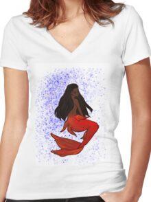 Nyota Uhura, ver. Mermaid Women's Fitted V-Neck T-Shirt