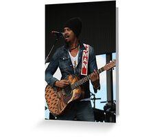 Michael Franti - Deni Blues & Roots 2014 Greeting Card