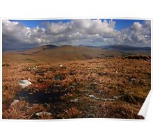 Sawel And Dart Mountains From Mullaghclogha Poster