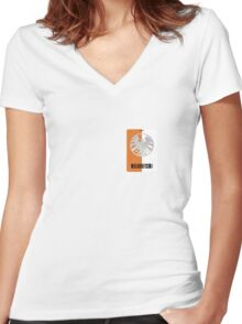 Shield Lanyard Women's Fitted V-Neck T-Shirt