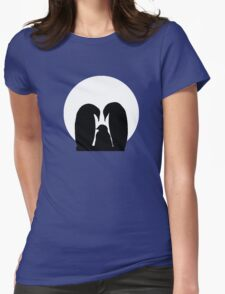 Penguin Family in Front of a Full Moon  T-Shirt