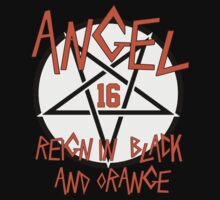 Angel Reign in Black and Orange (outline) Kids Clothes