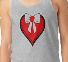 Red Bow on Heart Tank Top