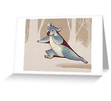 Run run run Greeting Card