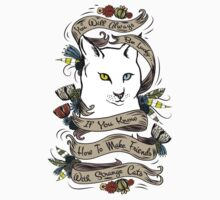 You Will Always Be Lucky Strange Cat Quote by Nalin Solis