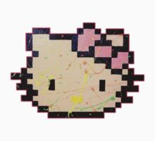 Hello Sticker w/ Neon Splatter, Pink Bow by ThePixelDad