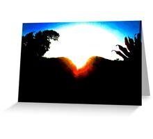 A MOUNTAIN SUNSET KISS Greeting Card