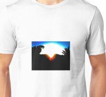 A MOUNTAIN SUNSET KISS Unisex T-Shirt