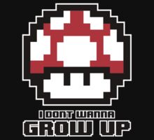 I Don't Wanna Grow Up Kids Tee