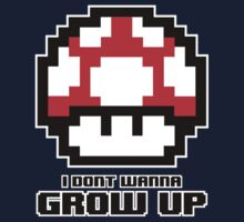 I Don't Wanna Grow Up One Piece - Short Sleeve