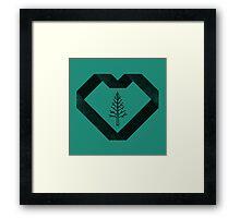 I Heart Trees Framed Print