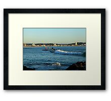 Surfing Main Street Framed Print