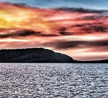 Sunset at Airlie Beach North Qld by Mark Batten-O'Donohoe