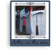 clothes on the wire Canvas Print