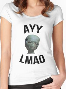 Ayy Lmao - White / Light Women's Fitted Scoop T-Shirt