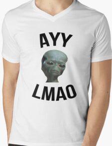 Ayy Lmao - White / Light Mens V-Neck T-Shirt