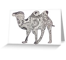 Hipster Camel- Two Humps Greeting Card