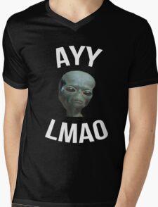Ayy Lmao - Black / Dark Mens V-Neck T-Shirt