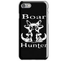 Boar hunter iPhone Case/Skin