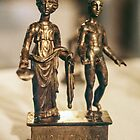 Juno and Genius bronze Age sculptur Cote d'Or Cultural Museum Dijon France 198404300020 by Fred Mitchell