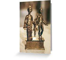 Juno and Genius bronze Age sculptur Cote d'Or Cultural Museum Dijon France 198404300020 Greeting Card