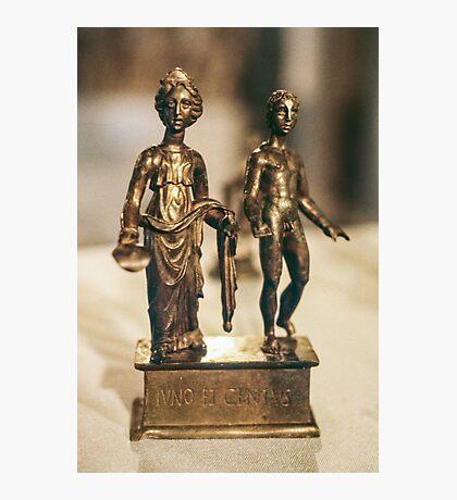 Juno and Genius bronze Age sculptur Cote d'Or Cultural Museum Dijon France 19840430 0020 Photographic Print