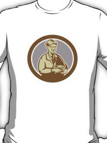 Granny Cook Mixing Bowl Oval Retro T-Shirt