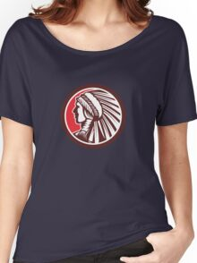 Native American Warrior Chief Circle Women's Relaxed Fit T-Shirt