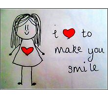 Smile Photographic Print