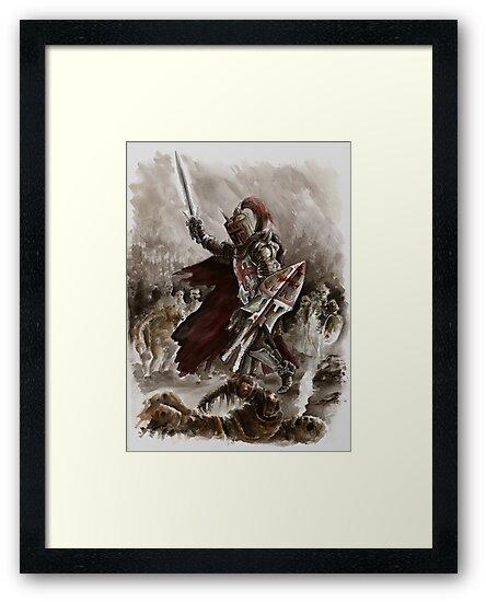 Dark Crusader Medieval Knight Templars warrior  by Mariusz Szmerdt