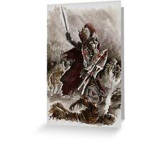 Dark Crusader Medieval Knight Templars warrior  Greeting Card