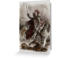 Dark Crusader Medieval Knight Templars warrior  Greeting Card
