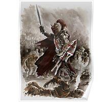Dark Crusader Medieval Knight Templars warrior  Poster
