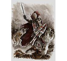 Dark Crusader Medieval Knight Templars warrior  Photographic Print