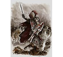Dark Crusader Medieval Knight Templars warrior  Photographic Print