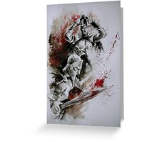 300 Spratan Greek Warriors Greeting Card