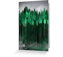 Misty Pines Greeting Card