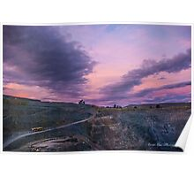 Gold Mine at Sunset Poster